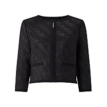 Buy Jacques Vert Jacquard Item Jacket, Black Online at johnlewis.com