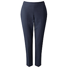 Buy Jacques Vert Petite Jacquard Trousers, Navy Online at johnlewis.com