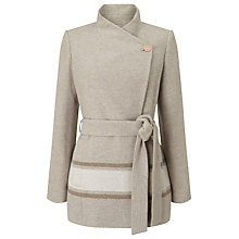 Buy Jacques Vert Asymmetric Colourblock Coat, Light Neutral Online at johnlewis.com