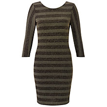 Buy Miss Selfridge Petite Glitter Bodycon Dress, Gold Online at johnlewis.com