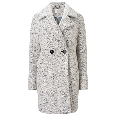 Jacques Vert Oversized Textured Double Breasted Coat, Mid Grey