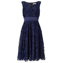 Buy Jacques Vert Feather Sparkle Prom Dress, Navy Online at johnlewis.com
