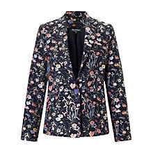Buy Miss Selfridge Floral Jacquard Blazer, Multi Online at johnlewis.com
