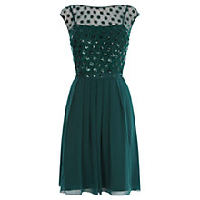 Buy Coast Lori Lee Cluster Dress, Forest Online at johnlewis.com