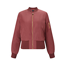 Buy Miss Selfridge Rose Bomber Jacket, Rose Pink Online at johnlewis.com