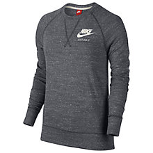 Buy Nike Sportswear Gym Vintage Crew Top Sweatshirt, Grey Online at johnlewis.com
