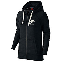 Buy Nike Sportswear Gym Vintage Hoodie, Black Online at johnlewis.com