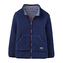 Buy Little Joule Boys' Junior Fred Reversible Fleece Sweatshirt, Navy Online at johnlewis.com
