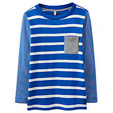 Buy Little Joule Boys' Oscar Striped T-Shirt, Bold Blue Online at johnlewis.com