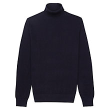Buy Reiss Observe Roll Neck Jumper, Navy Online at johnlewis.com