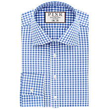 Buy Thomas Pink Summers Check Slim Fit XL Sleeve Shirt, Pale Blue/White Online at johnlewis.com