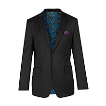 Buy Ted Baker Chunkj Semi Plain Tailored Suit Jacket, Black Online at johnlewis.com