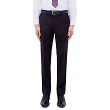 Buy Ted Baker Cotlint Wool Tailored Fit Suit Trousers, Navy Online at johnlewis.com