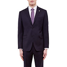 Buy Ted Baker Cotlinj Wool Tailored Fit Suit Jacket, Navy Online at johnlewis.com