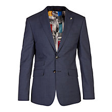 Buy Ted Baker Glenj Puppytooth Tailored Suit Jacket, Blue Online at johnlewis.com