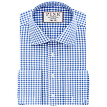 Buy Thomas Pink Summers Check Slim Fit Double Cuff Shirt, Pale Blue/White Online at johnlewis.com