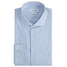 Buy Calvin Klein Rome Stripe Fitted Easy Iron Shirt, Blue/White Online at johnlewis.com
