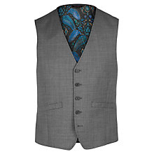Buy Ted Baker Slasht Sharkskin Wool Tailored Fit Suit Waistcoat, Grey Online at johnlewis.com