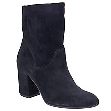 Buy John Lewis Ora Block Heeled Ankle Boots, Navy Online at johnlewis.com