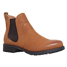 Buy Carvela Solid Slip On Ankle Boots, Tan Online at johnlewis.com