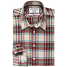 Buy Thomas Pink Abley Check Slim Fit Shirt, Beige/Red Online at johnlewis.com