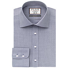 Buy Thomas Pink Ernest Texture Slim Fit Shirt, White/Navy Online at johnlewis.com