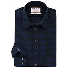 Buy Thomas Pink Ray Texture Slim Fit Shirt, Navy/Black Online at johnlewis.com
