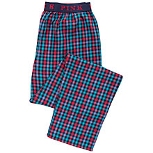 Buy Thomas Pink Borough Check Cotton Pyjama Bottoms, Navy/Red Online at johnlewis.com