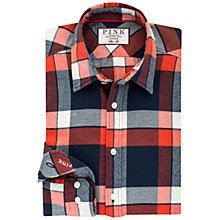 Buy Thomas Pink Leo Check Classic Fit Shirt, Navy/Red Online at johnlewis.com