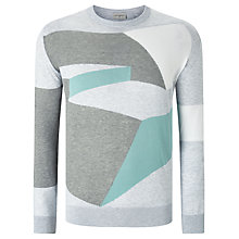 Buy John Smedley Compose Intarsia Knit Jumper, Feather Grey Online at johnlewis.com