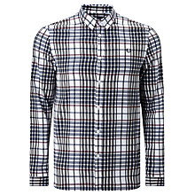 Buy Fred Perry Twill Check Shirt, White/Navy/Green/Rosewood Online at johnlewis.com