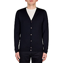 Buy John Smedley Petworth Merino Cardigan, Midnight Online at johnlewis.com