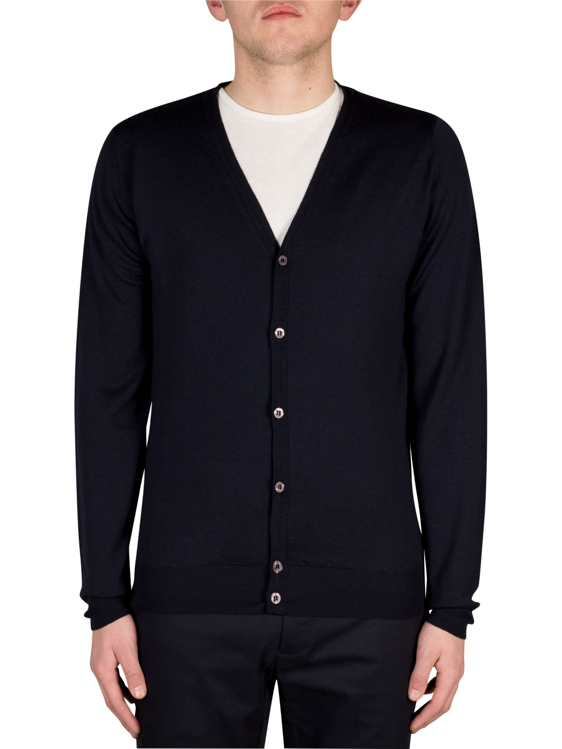 John Smedley John Smedley Petworth Merino Cardigan, Midnight