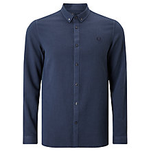 Buy Fred Perry Waffle Textured Shirt, Deep Night Online at johnlewis.com