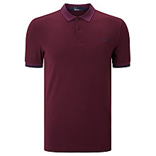 Buy Fred Perry Chequerboard Print Pique Polo Shirt Online at johnlewis.com