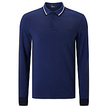 Buy Fred Perry Long Sleeve Twin Tipped Polo Top Online at johnlewis.com