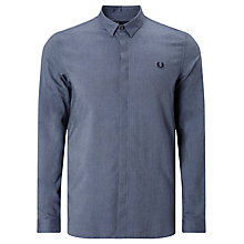 Buy Fred Perry Concealed Placket Shirt, Dark Carbon Online at johnlewis.com