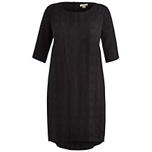 Buy Celuu Holly Gem Sleeve Check Dress, Black Online at johnlewis.com
