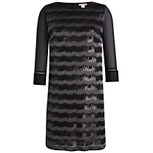 Buy Celuu Kathryn Sequin Stripe Dress, Black Online at johnlewis.com