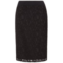 Buy Celuu Sonia Lace Pencil Skirt, Black Online at johnlewis.com
