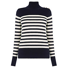Buy Oasis Napoleonic Stripe Polo Jumper, Multi Online at johnlewis.com