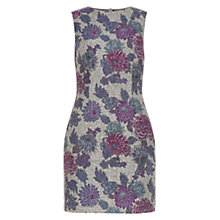 Buy Hobbs Lucia Print Dress, Grey Purple Online at johnlewis.com