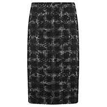 Buy Mint Velvet Check & Lace Mix Skirt, Black Online at johnlewis.com