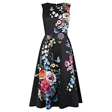 Buy Oasis Flora & Fauna Applique Midi Dress, Multi Online at johnlewis.com