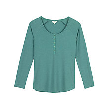 Buy Fat Face Avebury Rib Henley Pyjama Top Online at johnlewis.com