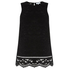 Buy Warehouse Lace Shell Top, Black Online at johnlewis.com