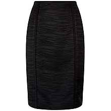 Buy Jaeger Seam Detail Lace Pencil Skirt, Black Online at johnlewis.com