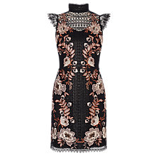 Buy Karen Millen Lace Embroidered Dress, Black/Multi Online at johnlewis.com