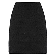 Buy Oasis Tinsel Popcorn Skirt, Black Online at johnlewis.com