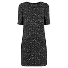 Buy Oasis Shimmer Popcorn Shift Dress, Black Online at johnlewis.com